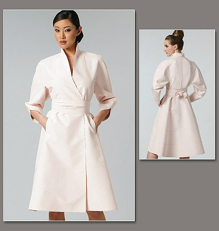 V1239 Misses' Dress and Belt | Average | by Chado Ralph Rucci