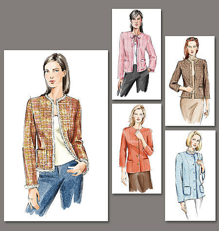 Vogue Pattern 7975 Lined jacket in two lengths