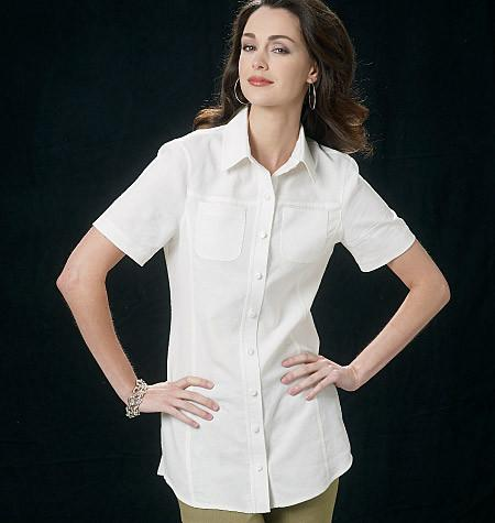 Vogue Pattern 8689  Misses' Shirt | Easy from Jaycotts Sewing Supplies