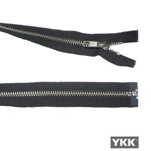 YKK Open End Zip Silver Teeth | BLACK from Jaycotts Sewing Supplies