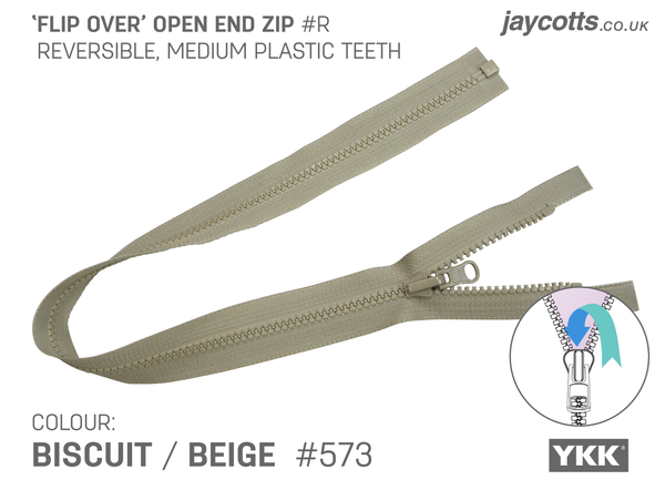 Reversible Open End Zip BEIGE