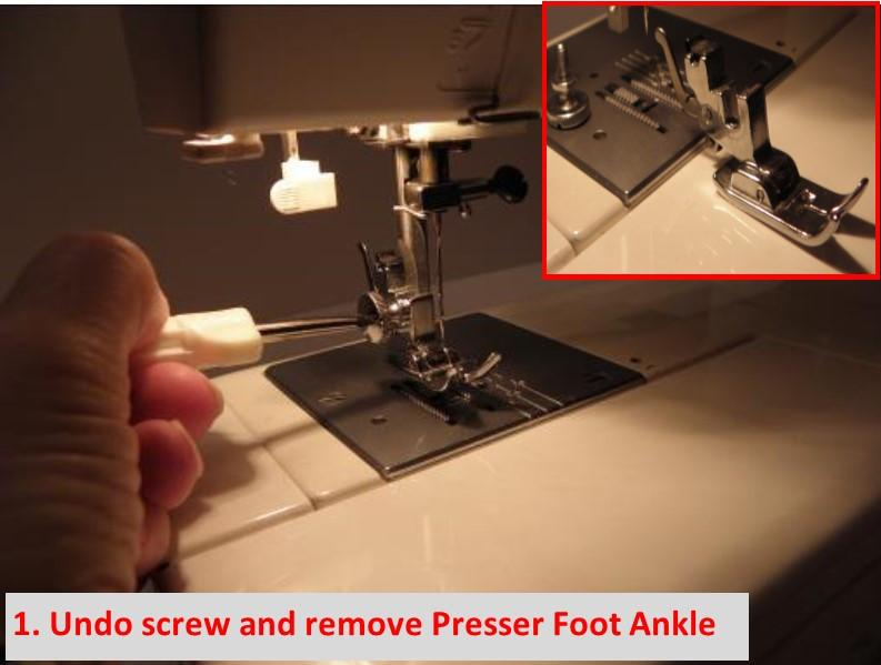 Adjustable Zipper & Piping Foot