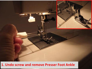 Janome Adjustable Zipper and Piping Foot from Jaycotts Sewing Supplies
