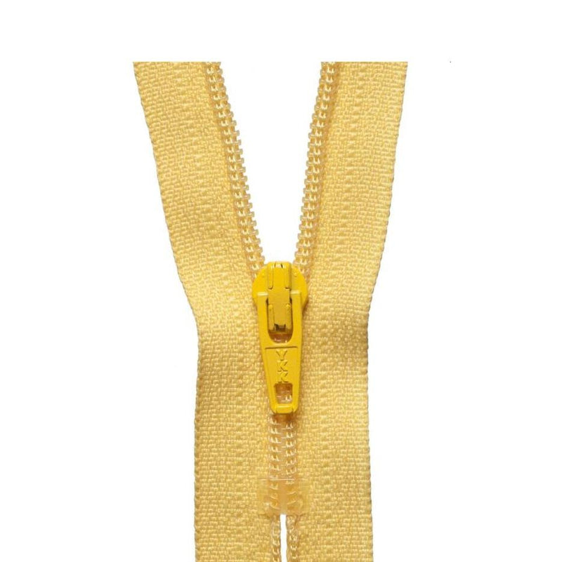YKK Regular Zip - Yellow Gold