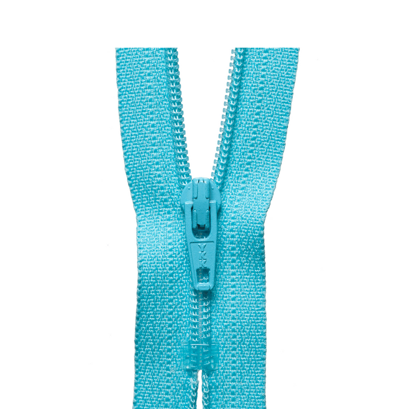 YKK Regular Zip  - Aqua