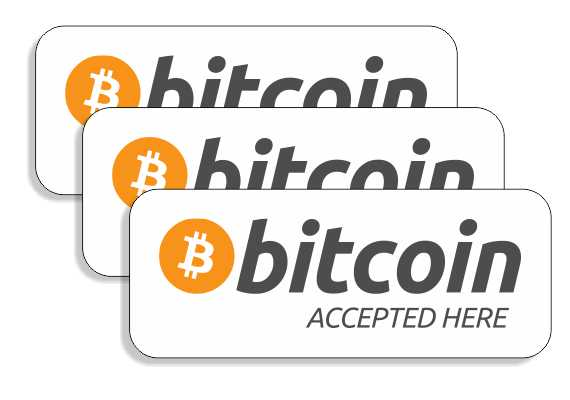 Bitcoin - Accepted Here Stickers! (10 Pieces)