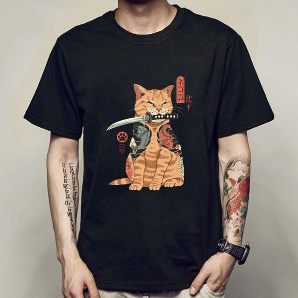 Yakuza Katana Cat - Men/Women T-Shirt!