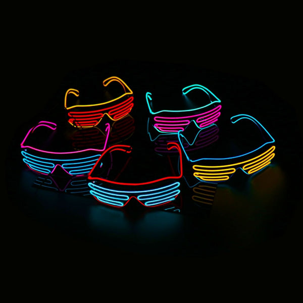LED Neon Glowing Rave Party Glasses!