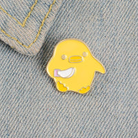 Duck With a Knife Meme Pin!