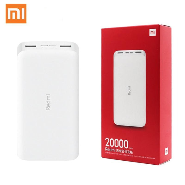 Newest Xiaomi Redmi 20000mAh 18W Power Bank with Quick Charge!