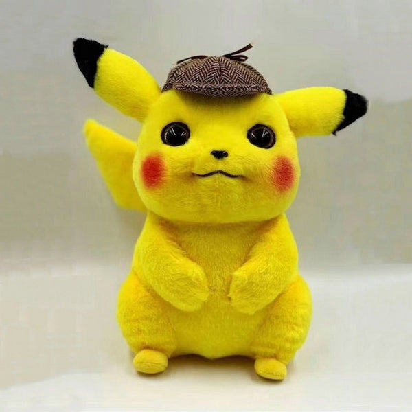 Cute Detective Pikachu Plush Toy! (High Quality, Two Sizes)