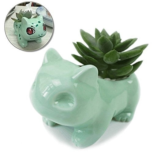 Kawaii Ceramic Bulbasaur Flowerpot!