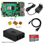 *BUNDLE* Raspberry Pi 4B 2GB/4GB: Board + Heat Sink + Power Adapter + Case + 32/64/128GB SD + HDMI Cable!