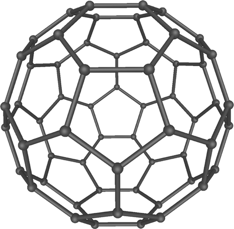 Model of a fullerene molecule.