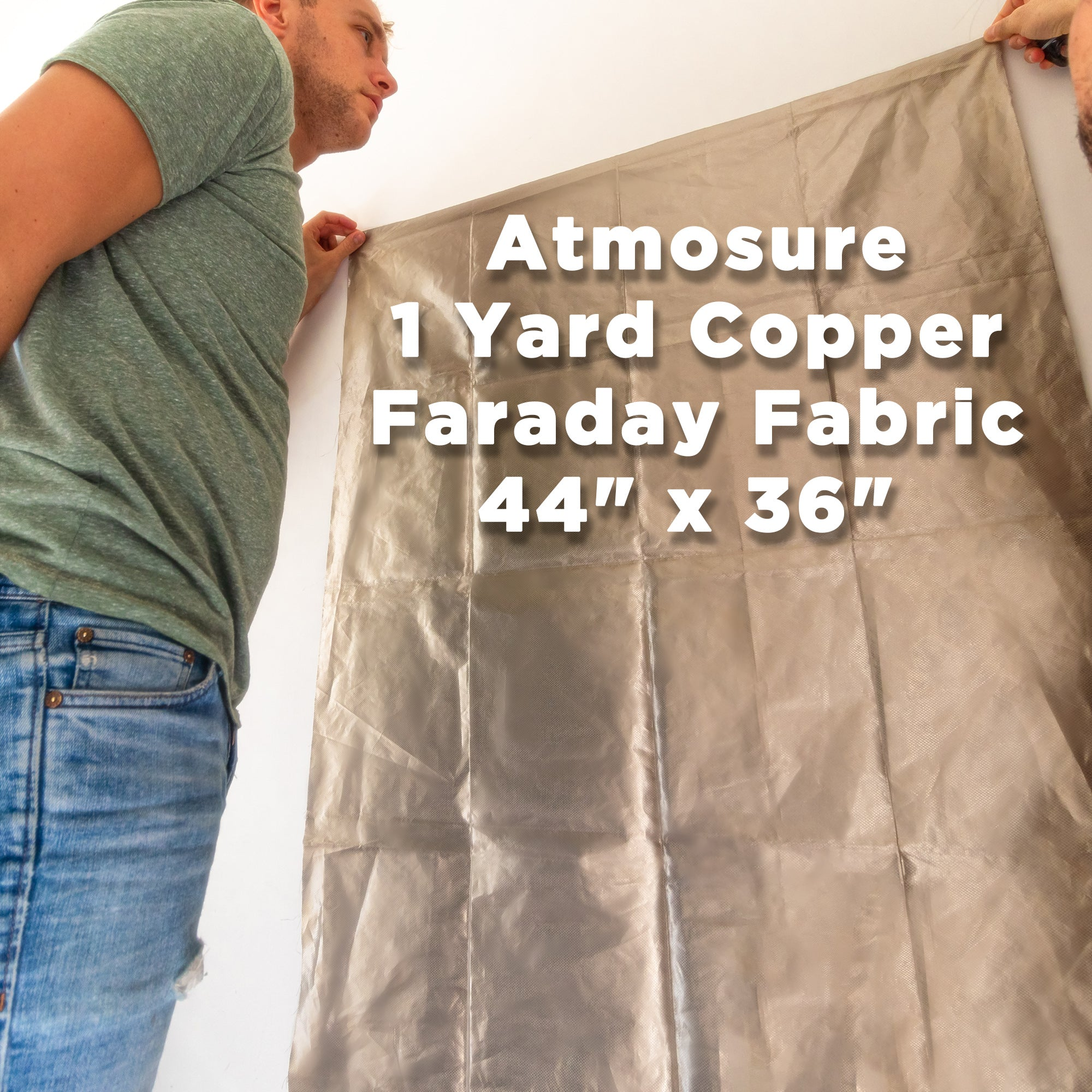 "1 Yard Copper Faraday Fabric (44"" x 36"") For EMF Enclosure & Protection"