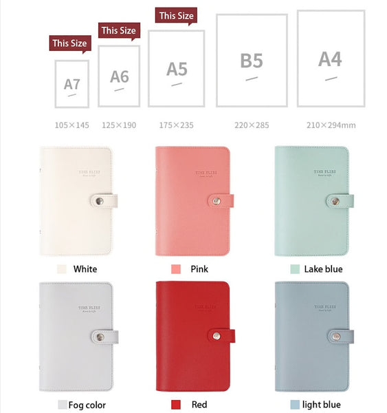 A5/A6/A7 Premium Leather Binder Planner with Refillable Inserts