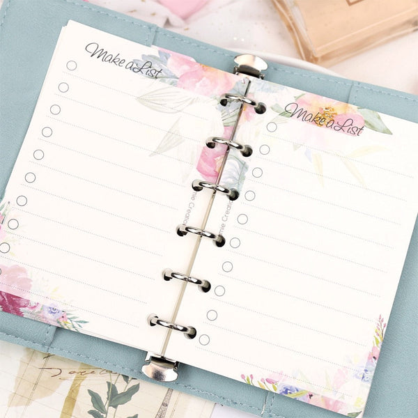 A5/A6/A7 Floral To-Do-List Binder Planner Refills (40 Sheets)