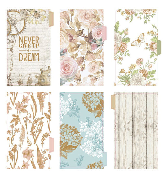 A5/A6 Floral Planner Laminated Divider (Set of 5)