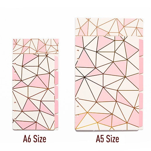 A5/A6 Planner Laminated Divider (Set of 5)