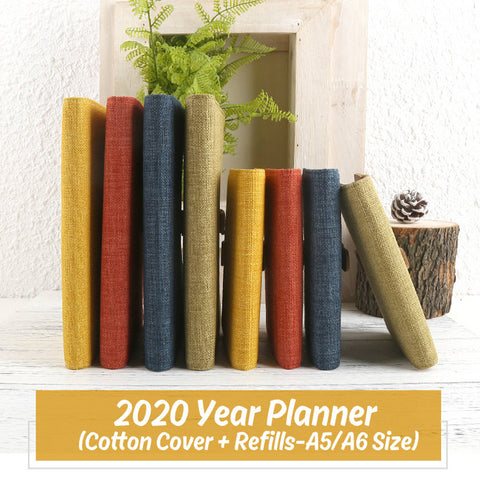 A5/A6 Hobo-Style Cotton Planner with Refillable Notebook