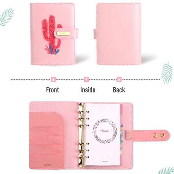 A6 Premium Leather Binder Planner with Refillable Inserts