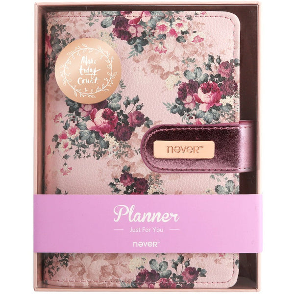 A6 Floral Leather Binder Planner with Refillable Inserts