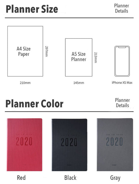 A5 Year 2020 Weekly Planner (256 Pages)