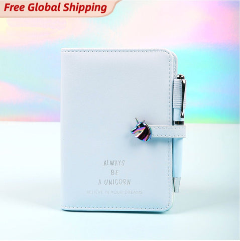 Cute Unicorn Leather Passport Cover Gift Set