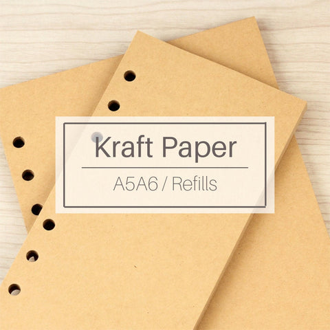 A5/A6 Kraft Binder Planner Refills (40 Sheets)