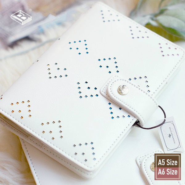 A5/A6 Stylish Leather Binder Planner with Refillable Inserts