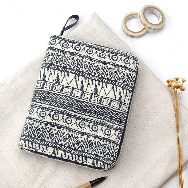 A6 Zippered Canvas Planner and Refillable Notebook