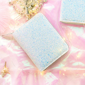A6 Zippered Glitter Planner and Refillable Notebook