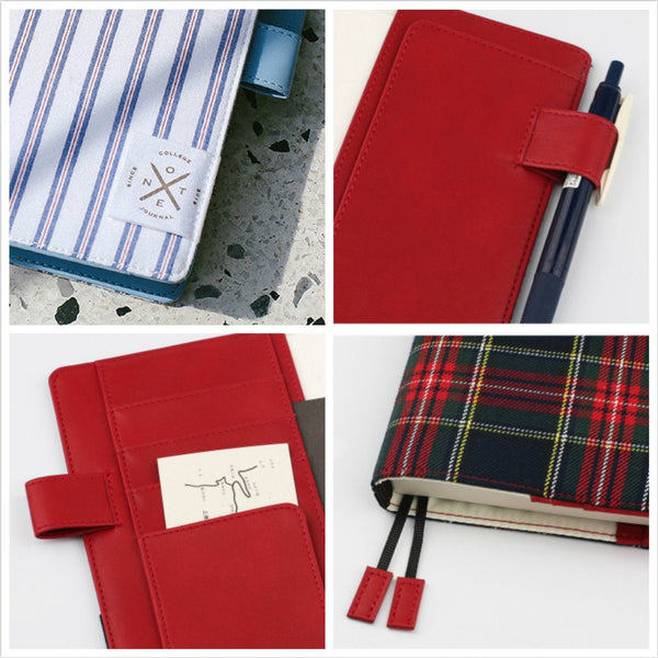 A5/A6 Hobo-Style Preppy Planner with Refillable Notebook