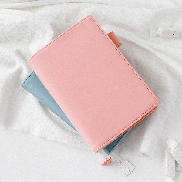 A5/A6 Hobo-Style Leather Planner with Refillable Notebook