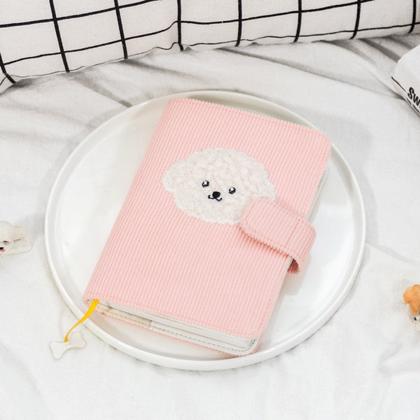 A6 Hobo-Style Puppy Planner with Refillable Notebook