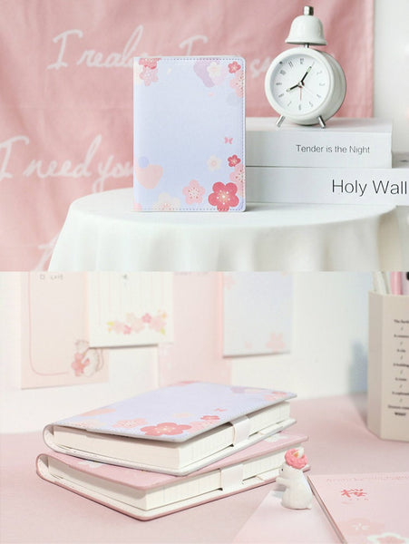 A6 Hobo-Style Sakura/Cherry Planner with Refillable Notebook