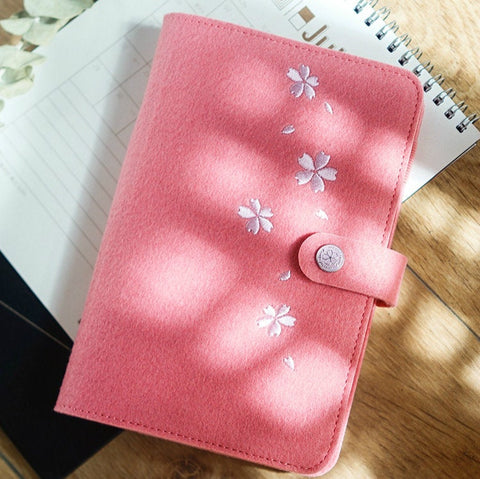 A5/A6 Binder Planner with Felt Cover and Refills