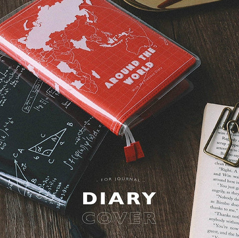 A5/A6 PVC Cover on Cover for Hobonichi & Midori Planner
