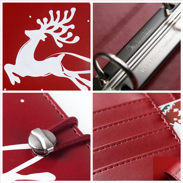 A6 Christmas Leather Binder Planner Gift Set