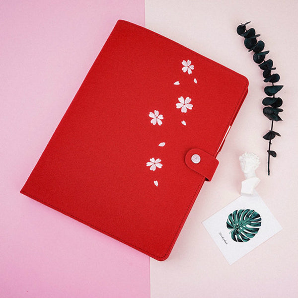B5 Large Felt Binder Planner with Refillable Inserts