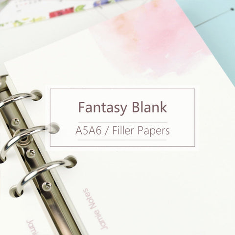 A5/A6 Fantasy Blank Binder Planner Refills (40 Sheets)