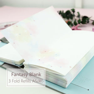 A5/A6 Blank Three-Fold Binder Planner Refills (20 Sheets)