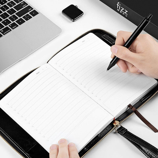 B5 Zippered Business Planner with Refillable Notebook