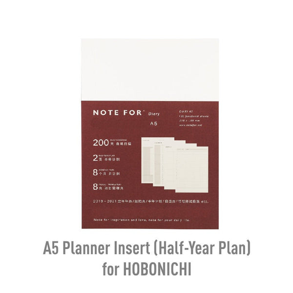 A5/A6 Planner Insert for HOBONICHI Tech Cousin Planner