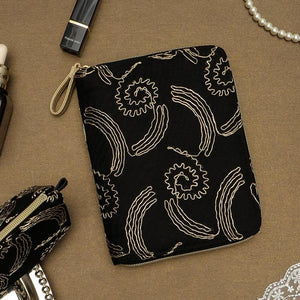 A6 Zippered Lace Planner with Refillable Notebook