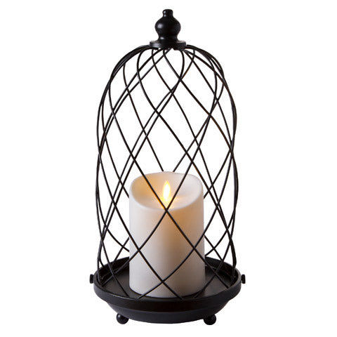 Bird Cage Candle Holder: Black, 15 Inches