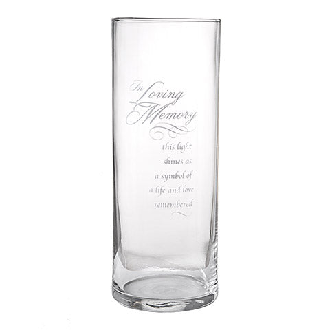 Candle Holder In Loving Memory Glass Memorial Candle Holder
