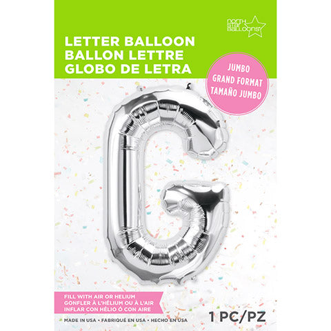 Letter Foil Balloon: G Silver 34 Inches | Northstar Balloons
