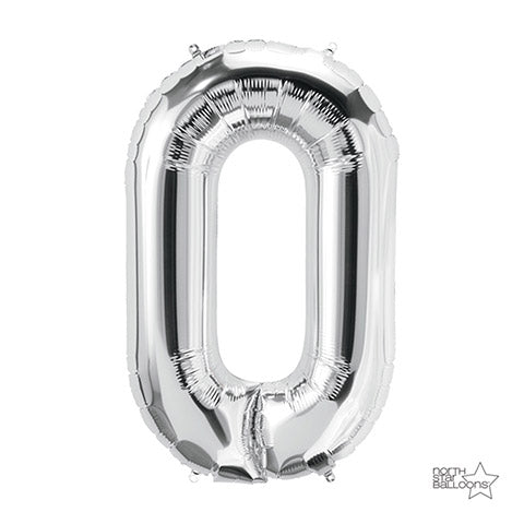 Letter Foil Balloon: O Silver 34 Inches | Northstar Balloons