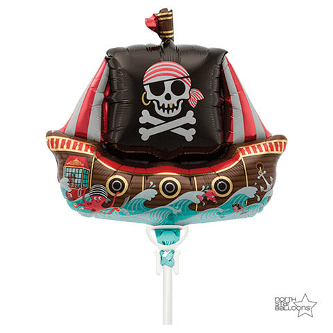 Pirate Ship Foil Balloon 14 Inches | Northstar Balloons